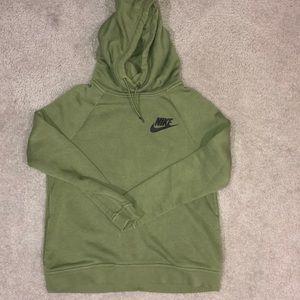 Nike fleece cowl neck hoodie